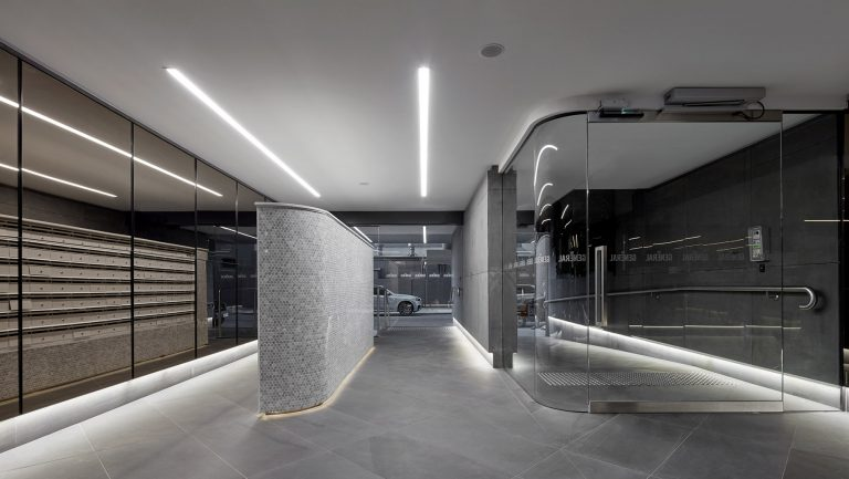 multi-residential building lobby designed by c.kairouz architects