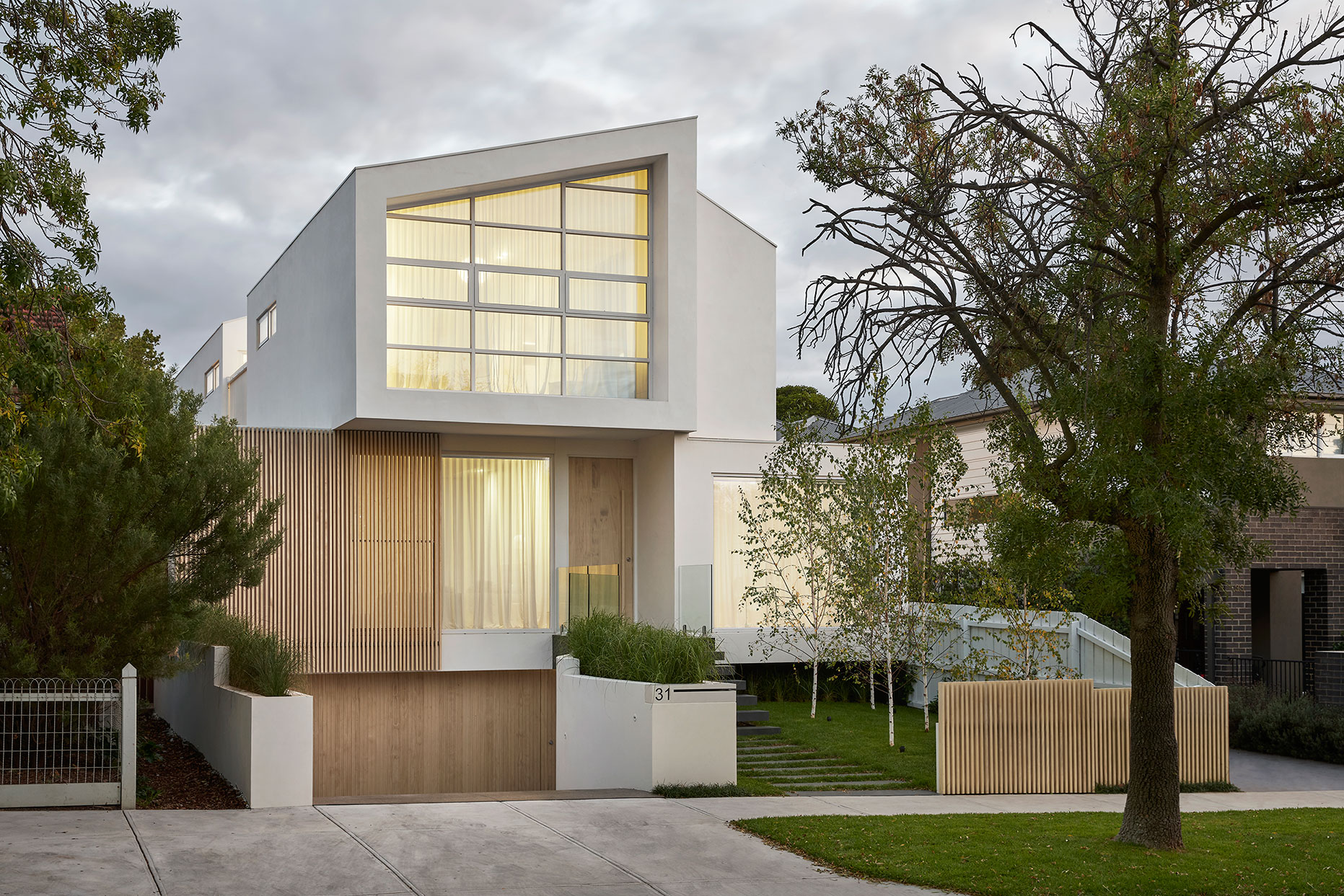 ck architects kellet street house exterior image right side