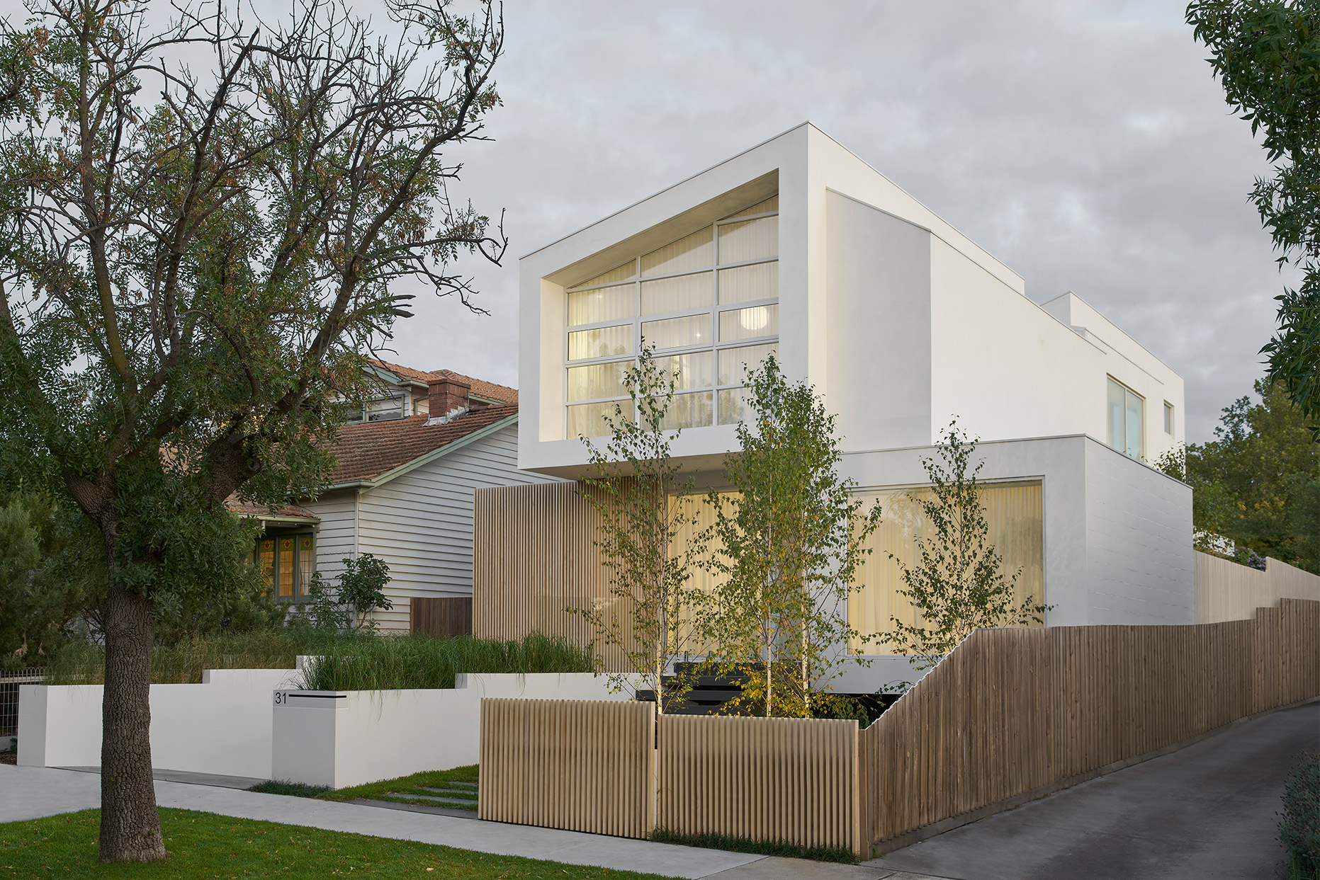 ck architects kellet street house exterior image side view
