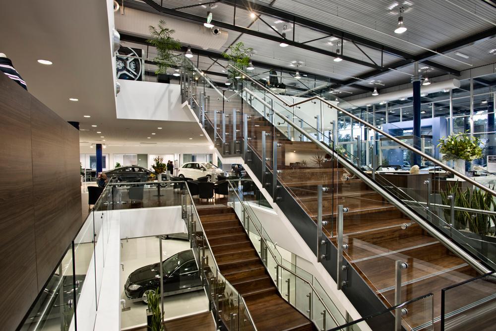 ck architects mercedes benz workshop garage