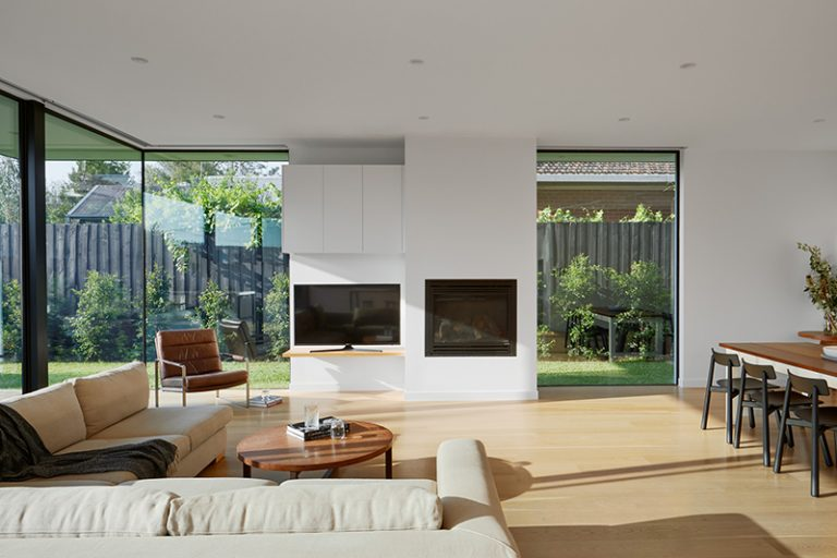 c.kairouz architects Hover House extension interior livingroom