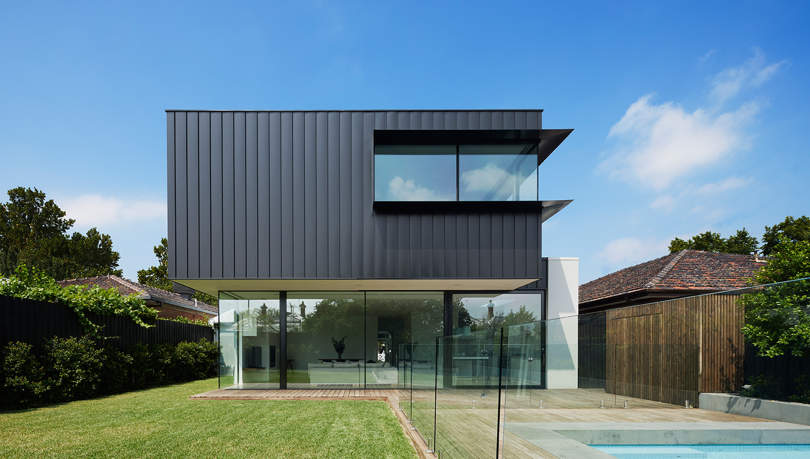 example of completed high end home extension by C.Kairouz Architects in Northcote