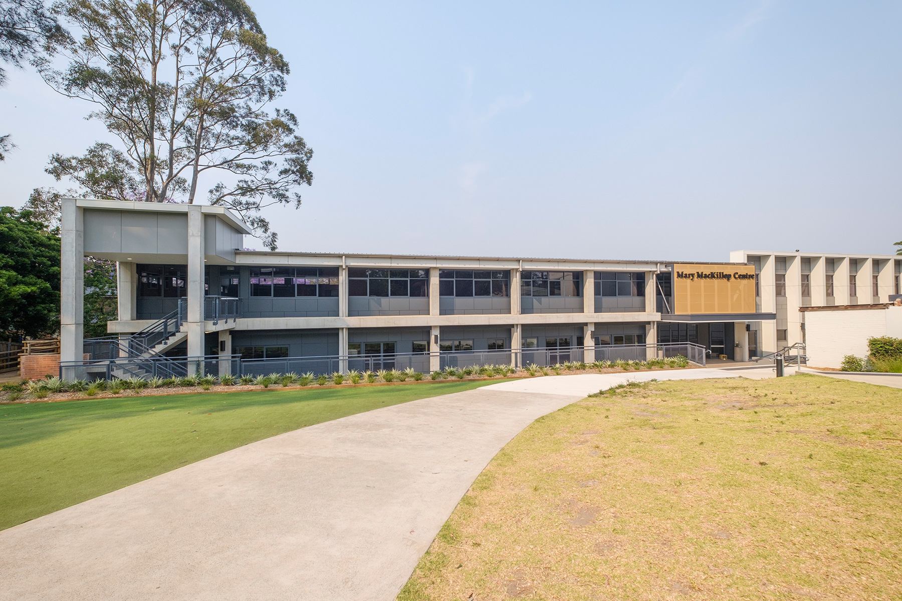 ck architects st leos school exterior wide view