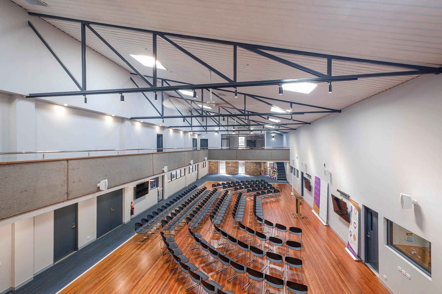 ck architects st leos school interior hall