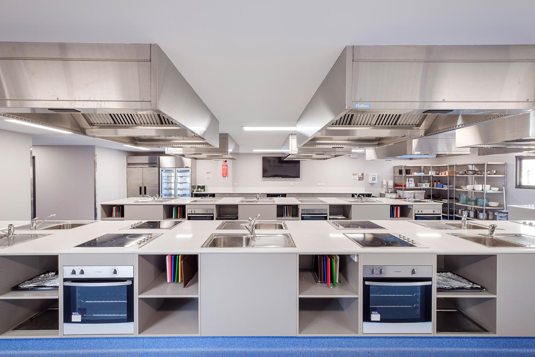 ck architects st leos college teaching kitchen