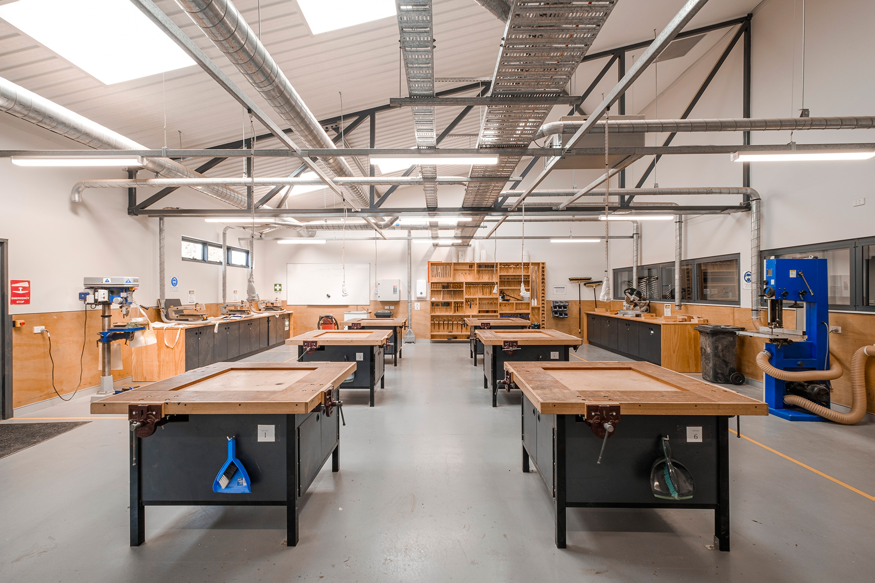 ck architects st leos college woodwork workshop