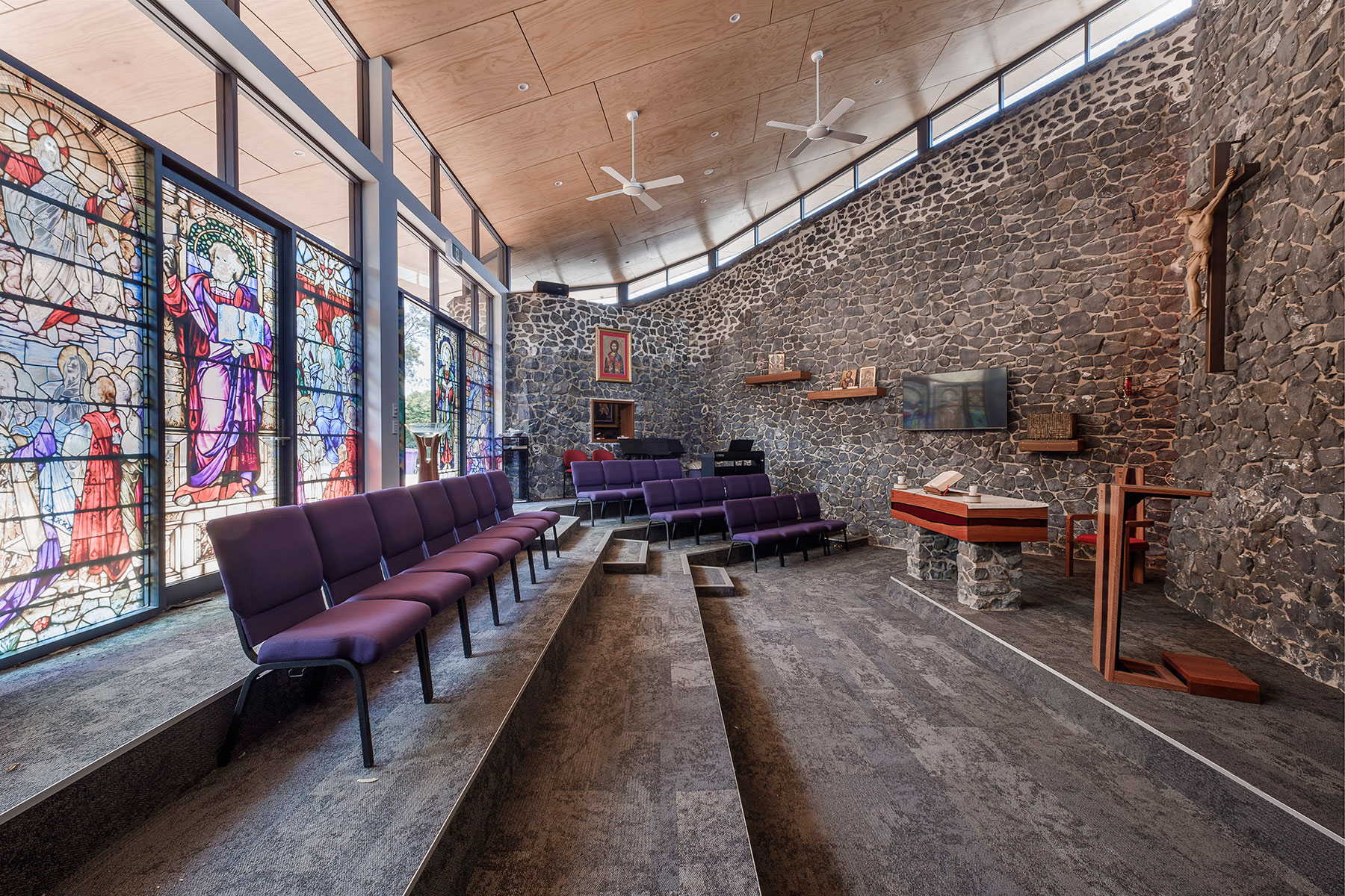ck architects the chapel project interior church space