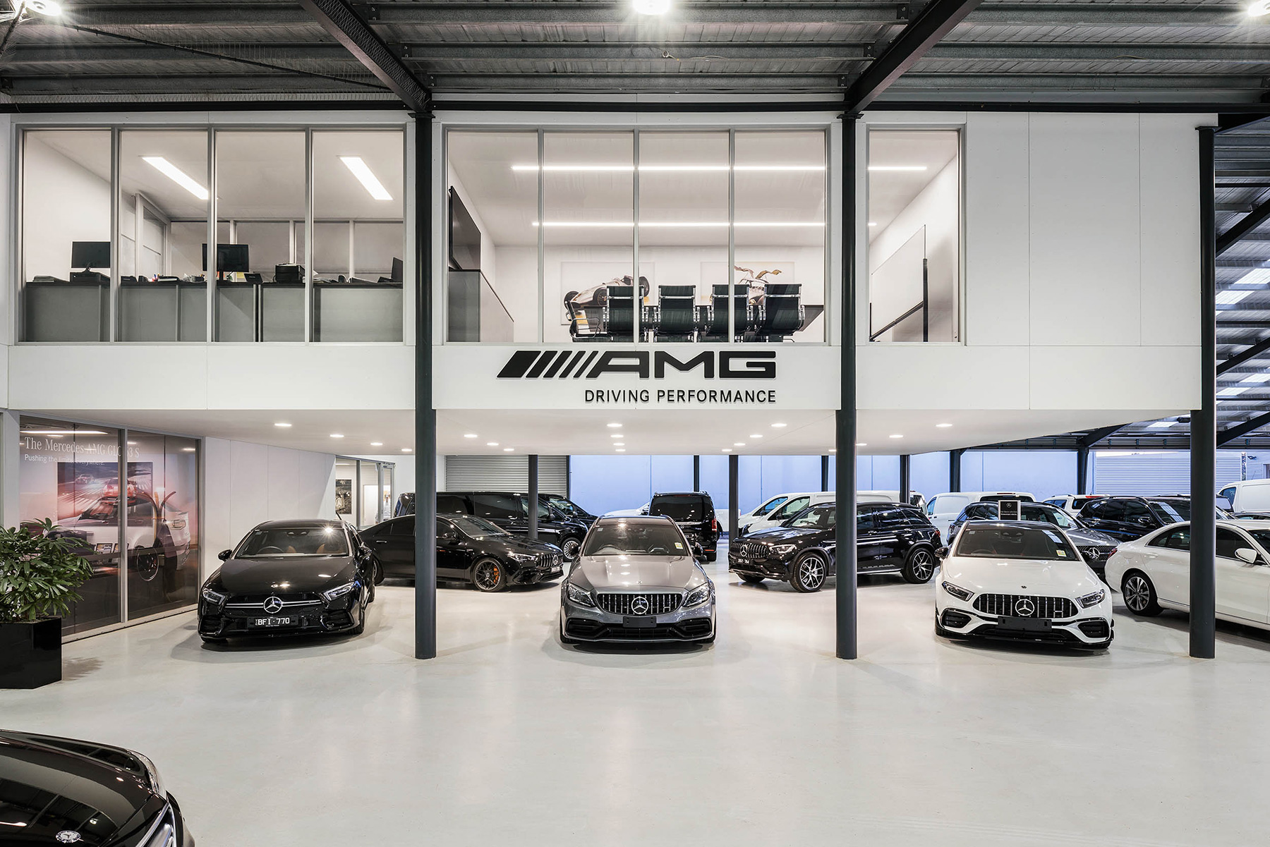 c. kairouz architects commercial interior design for car garage fitout image