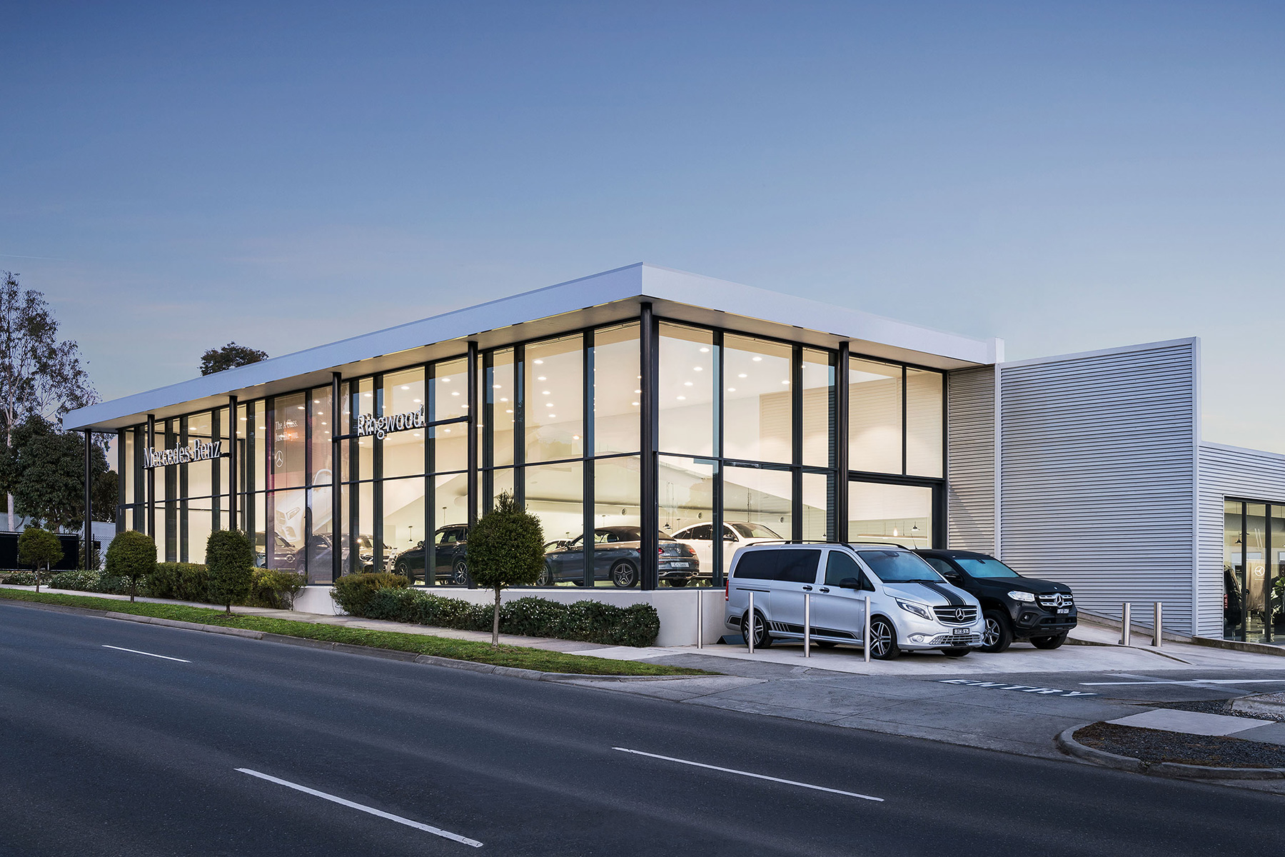 c. kairouz architects commercial architecture design for car dealership exterior building image