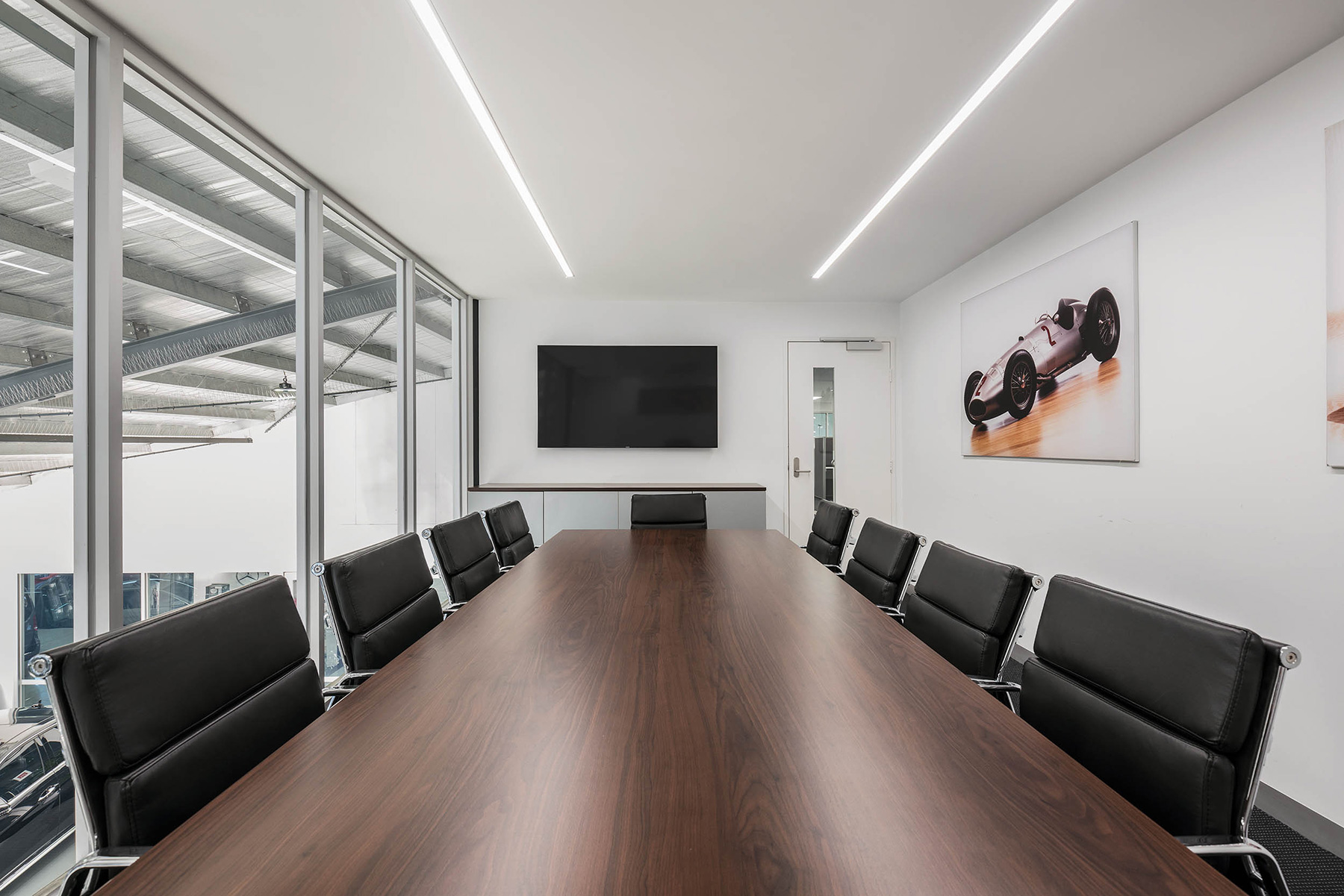 c. kairouz architects commercial architecture interior design for car dealership meeting room