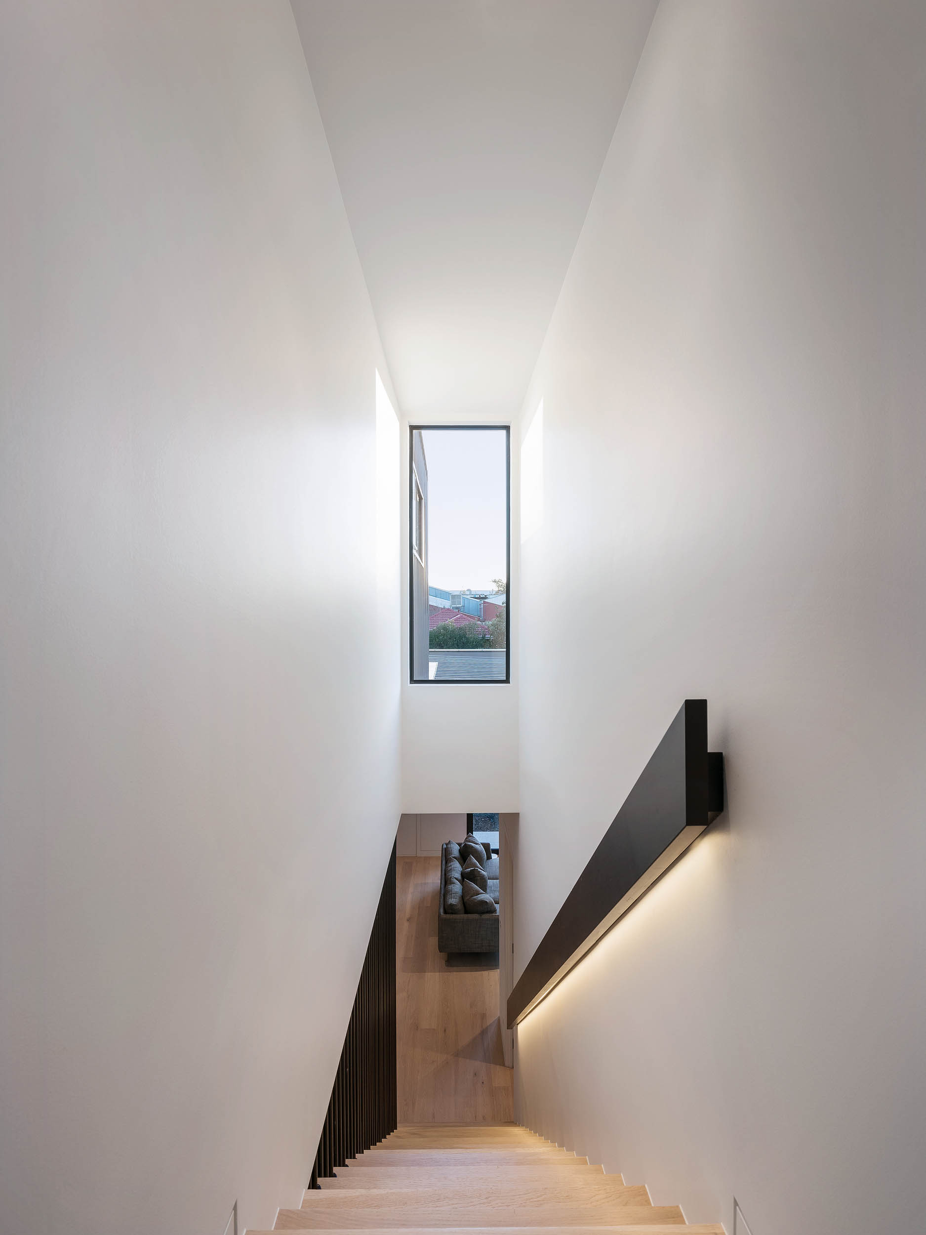 c.kairouz architects fairfield townhouse architectural interior stair design