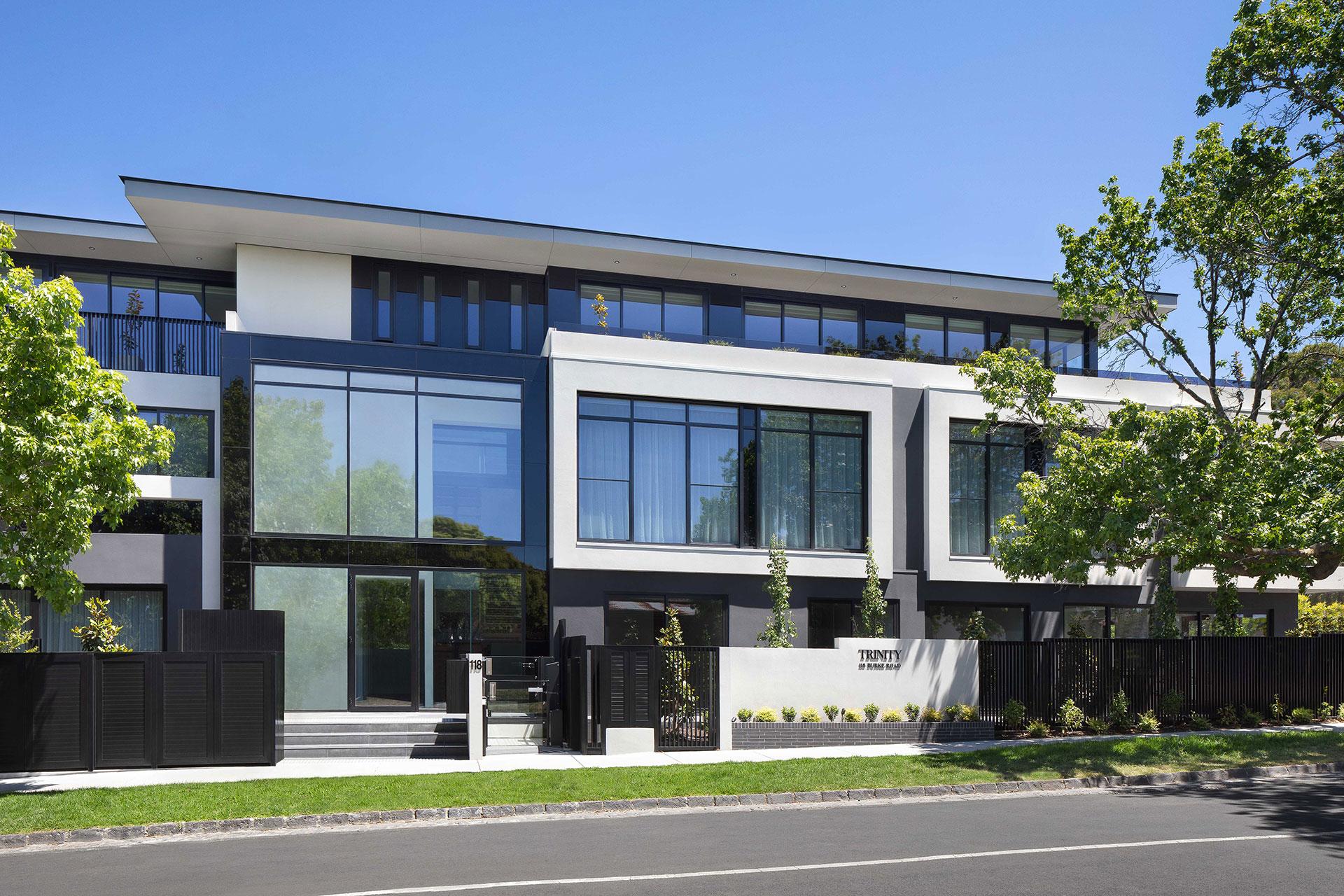 malvern apartments exterior street facade & entryway design