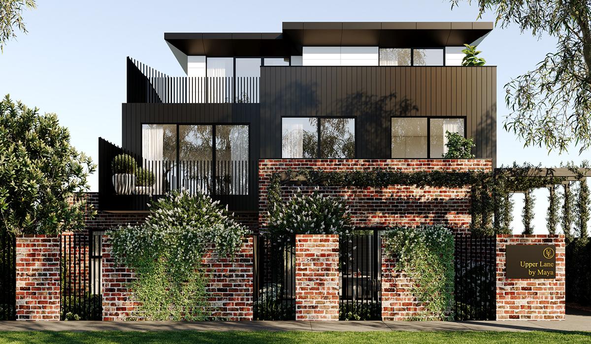 apartment design exterior view for Heidelberg residences c.kairouz architects