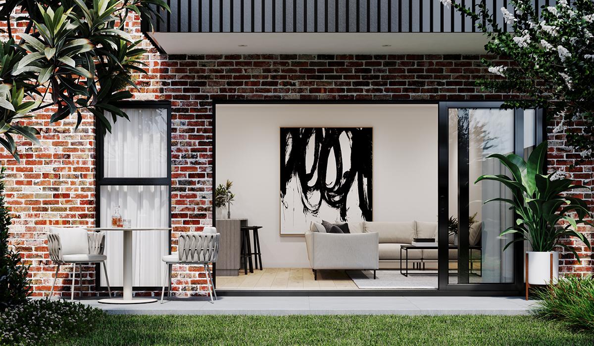 indoor outdoor terrace for heidelberg apartments